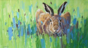 Ready To Go - Hare poised in the grass